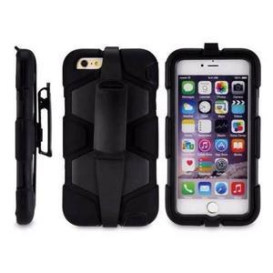 Funda Tipo Survivor Antigolpes Iphone 6s Plus Clip Roja