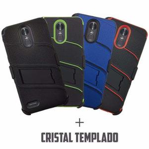 Funda Uso Rudo Clip Cristal Lg Stylus 3 K8 K10 K20 Pro Plus