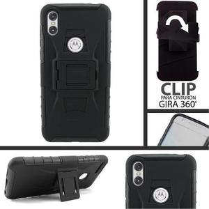 Funda Uso Rudo Clip Moto One E5 G5 G6 Z2 Z3 Play Plus Force