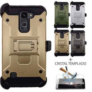 Funda Uso Rudo Clip Tipo Metal Cristal Lg Stylus 2 Plus K530