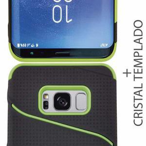 Funda Uso Rudo Elegante Con Clip + Cristal Samsung S8 Plus