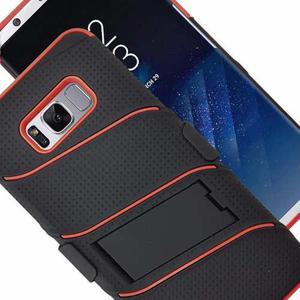 Funda Uso Rudo Elegante Con Clip Samsung S8 Plus G955