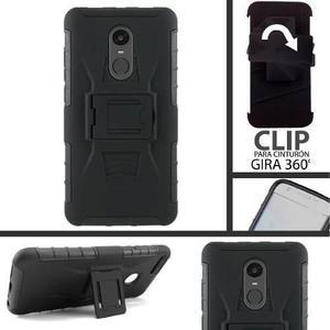 Funda Xiaomi Redmi 4x 4a Note 4 5a 5 Pro Plus Uso Rudo Clip