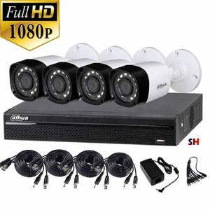 Kit Hd p 4 Camaras Ir Dvr Nube Internet Cctv Dahua 2mp