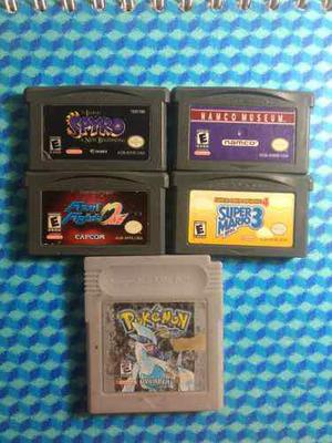Lote De 5 Juegos De Game Boy Advance Y Color Pokemon Mario
