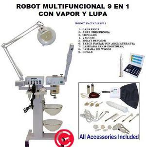 ROBOT MULTIFUNCIONAL 9 EN 1 CON VAPOR Y LUPA