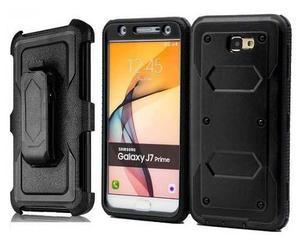 Samsung J7 Prime Funda Protector + Clip Uso Rudo