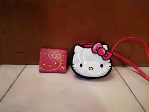 Cartera y bolsita de hello kitty para niñas