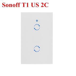 Elegante Apagador Doble Touch Y Wifi - Sonoff T1 Us