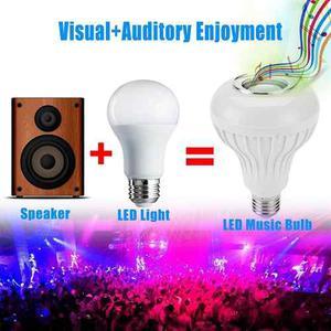 Foco Lampara Led De Colores Con Bocina Bluetooth Y Control