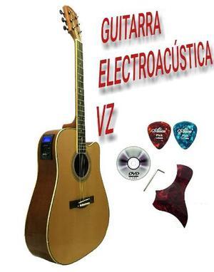 Guitarra Electroacústica Texana Vz Pastilla 4 Bandas