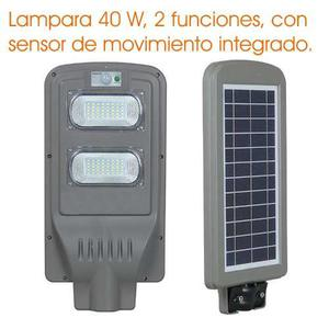 Lampara Led Urbana, Panel Solar, Sensor De Movimiento 40 W