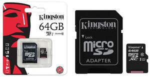 Memoria Micro Sd Kingston 64gb Clase 10