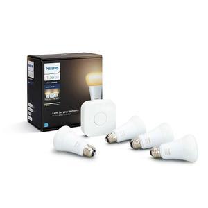 Philips Hue Led 4 Lámparas Blanco Ambiance 10w A19