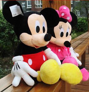 vendo peluches nuevos de mickey y minnie mouse traidos desde