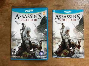 Assassins Creed 3 Completo Para Nintendo Wii U Buen Estado