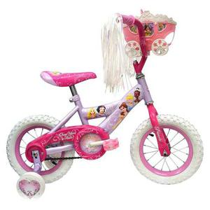 Bicicleta Para Niña Huffy Rod. 12 Disney Princesas Carruaje
