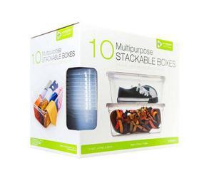 Caja De Plastico Transparente Para Organizar 10 Pzs