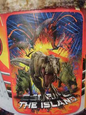 Cobija Ligera Tipo Frazada Dinosaurios De Jurassic World