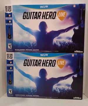 Guitar Hero Live Wii U Guitarra Videogame Original Sellado