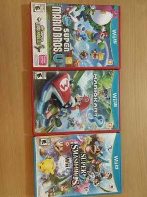 Lote Juegos Wii U Mario Kart Smash Mario Bros U Con Luigi U