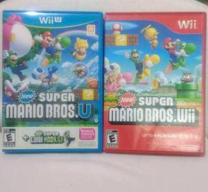 New Super Mario Bros U + New Super Mario Bros Wii Usados