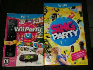 Wii Party U Y Sing Party Micrófono Y Cajas De Cartón Jpcv
