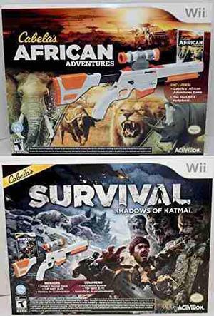 Wii Wii-u Cabela X26 39 S African Adventures X26amp Surv