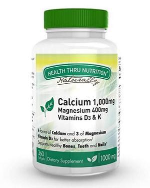 1000 Mg De Calcio Y 400 Mg De Magnesio Con Vitamina D3 Y K (