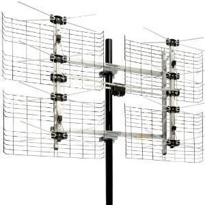 Alta Ganancia Bowtie Interior / Exterior Antena Hdtv - 60 Mi
