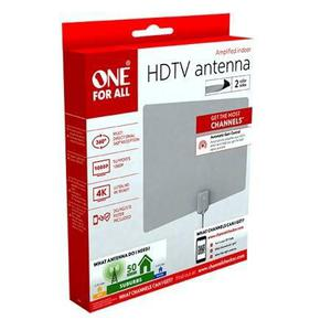 Antena Hdtv Ultra Delgada Marca One For All Para Interiores