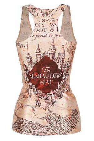 Blusa Del Mapa Del Merodeador Harry Potter