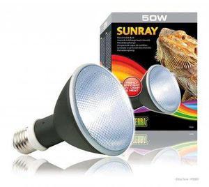 Exo Terra Sunray 50w - Foco 2 En 1 Calor Y Uvb Para Reptiles