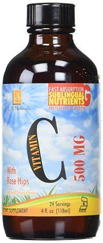 L A Naturals Liquid Vitamina C 500 Mg, 0,02 Libra