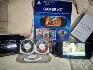 Psp Game Kit Con 4 Juegos, Case Y Cargador Original.