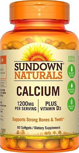 Sundown Naturals Calcium Plus 1200 Vitamina D3 1000 Ui, 60 C