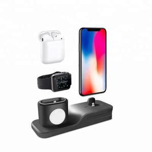 Base Para Iphone Airpods Y Apple Watch Dock Estación Carga