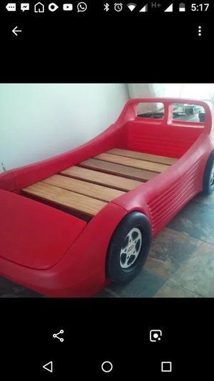 Hermosa cama roja little tikes