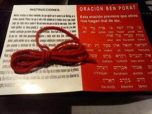 Hilo Rojo De La Kabbalah Para 15 Pulseras 100% Lana Promoci