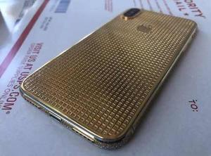 Iphone X 256gb Chapado En Oro 24k