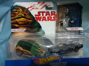 JABBA THE HUTT Y HAN SOLO STAR WARS HOT WEELS DE COLECCION