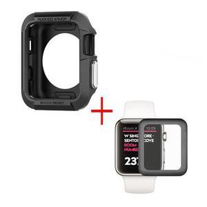 Mica Cristal Templado 3d + Case De Uso Rudo For Apple Watch