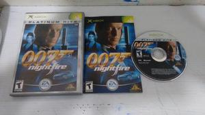007 Nightfire Completo Para Xbox Normal,excelente Titulo