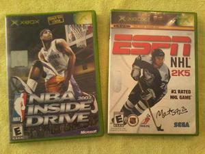 2 Juegos De Xbox Nba 2002 Y Nhl 2k5 En Buen Estado