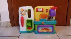 Cocinita playskool de juguete para niños didactica