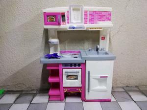 Cocinita rosa con blanco step 2 little tikes para niñas