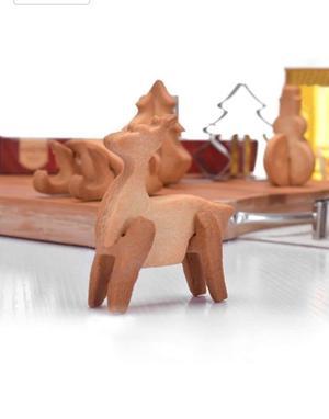 Cortadores de galletas 3D tema Navidad