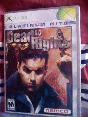 Dead To Rights Para Xbox Clasico Perfecto Estado-----mr.game