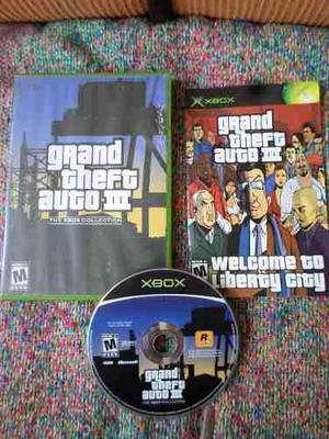 Grand Theft Auto 3 Original Para Xbox Clásico