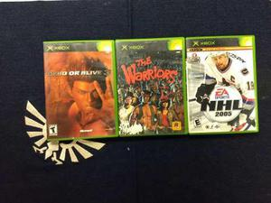 Lote Juegos Xbox Clasico Warriors, Dead Or Alive 3, Nhl